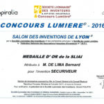 diplôme du concours lumière de monsieur DE LIMA